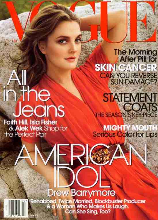 Vogue Usa Magazine Subscription: Couverturesdrewbarrymore, Couvertures Drew Barrymore